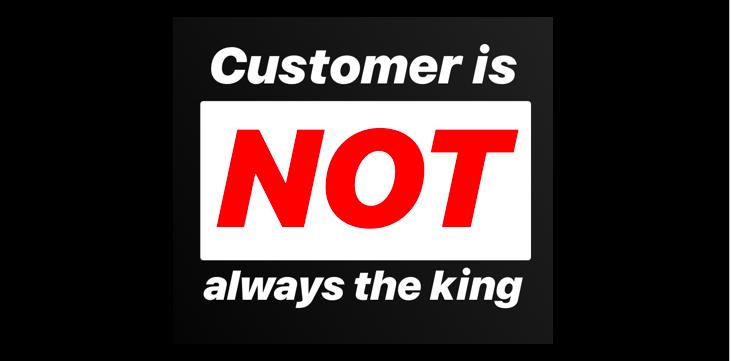 """5 دلیل برای اشتباه بودن جمله """"همیشه حق با مشتری است"""""""